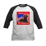 Curly Coat with flag Kids Baseball Jersey