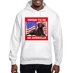 Curly Coat with flag Hooded Sweatshirt