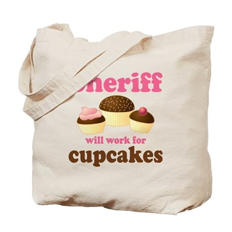 Funny Sheriff Tote Bag