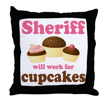 Funny Sheriff Throw Pillow
