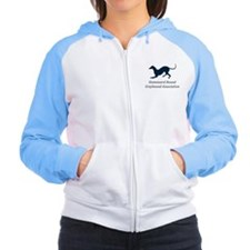 Cute Greyhound rescue Women's Raglan Hoodie