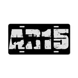 AR-15 (2) Aluminum License Plate