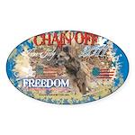 Chain Off 2011 Sticker (Oval 50 pk)