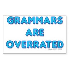 grammars are overrated Rectangle Decal