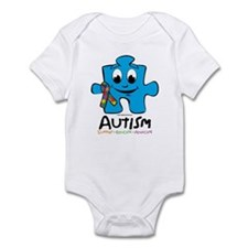 Autism Cartoon Puzzle Piece Infant Bodysuit