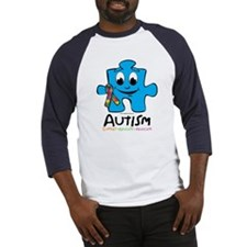 Autism Cartoon Puzzle Piece Baseball Jersey