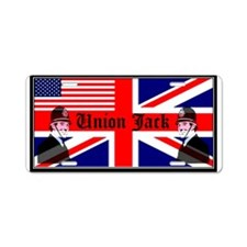 Funny Union jack Aluminum License Plate