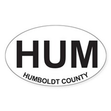 HUM Oval Sticker (50 pack)