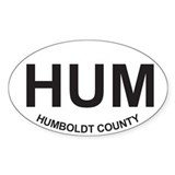 HUM Oval Sticker (10 pack)