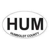 HUM Oval Decal