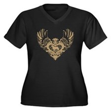 Golden Retriever Women's Plus Size V-Neck Dark T-S