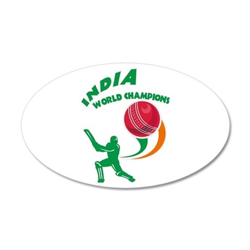 Cricket India Champions 22x14 Oval Wall Peel