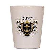 Proud Navy Grandma Shot Glass
