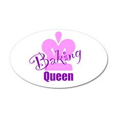 Baking Queen 38.5 x 24.5 Oval Wall Peel