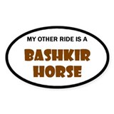 My Other Ride Is A Bashkir Horse Oval Decal