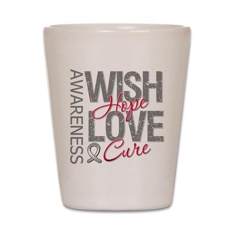 Diabetes Wish Hope Cure Shot Glass