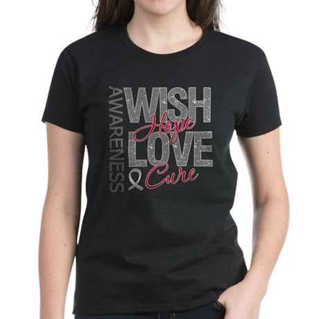 Diabetes Wish Hope Cure Women's Dark T-Shirt