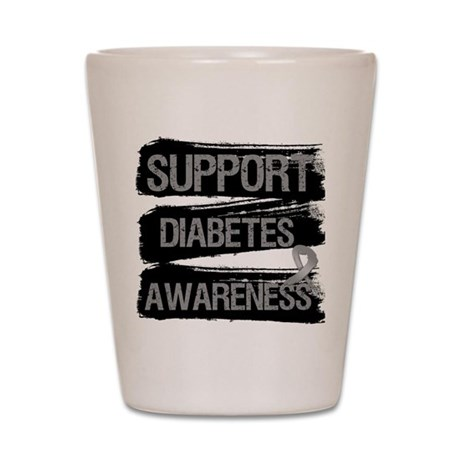 Diabetes Awareness Shot Glass