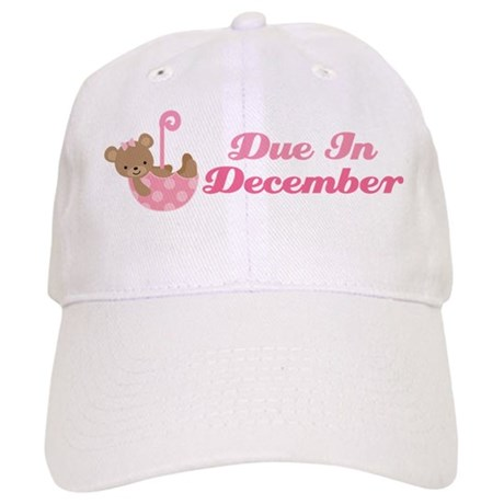 Cute December Due Date Maternity Hat