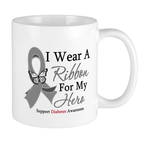 Diabetes I Wear Ribbon Mug