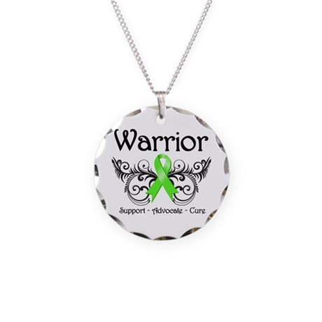 Warrior Lymphoma Necklace Circle Charm