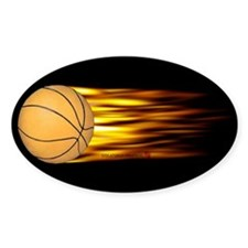 Basketball Flame Oval Decal
