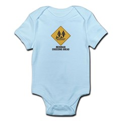 Mermaid Crossing Ahead Infant Bodysuit