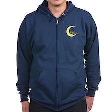 Gray Tabby Lunar Love Zip Hoodie