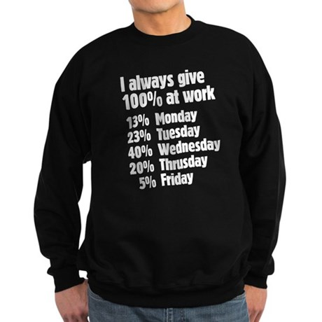 I give 100% Sweatshirt (dark)
