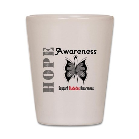 Diabetes Hope Awareness Shot Glass