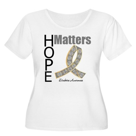 Diabetes Hope Matters Women's Plus Size Scoop Neck