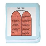 The Ten Commandments baby blanket