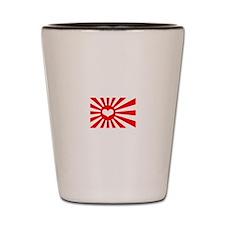 Japan's Heart Flag Shot Glass