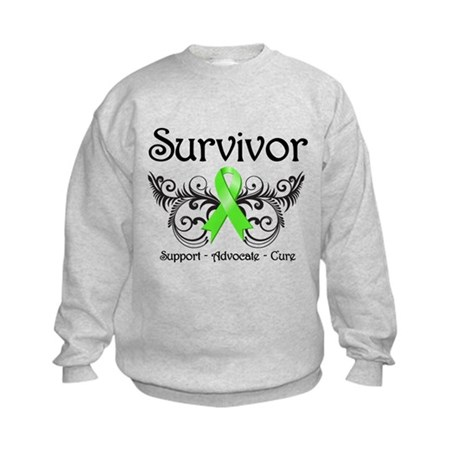 Survivor Ribbon Lymphoma Kids Sweatshirt
