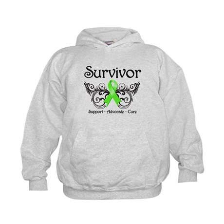 Survivor Ribbon Lymphoma Kids Hoodie