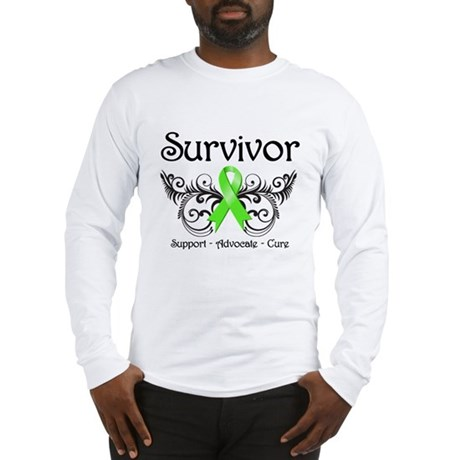 Survivor Ribbon Lymphoma Long Sleeve T-Shirt