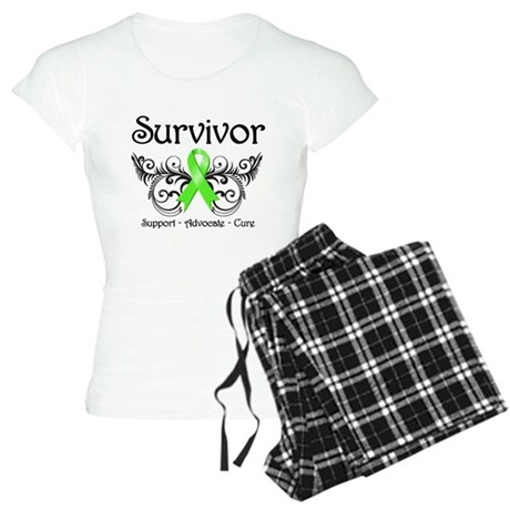Survivor Ribbon Lymphoma Women's Light Pajamas