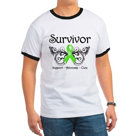Survivor Ribbon Lymphoma Ringer T
