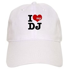 I Love My DJ Baseball Cap
