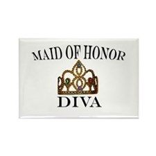 DIVA Maid of Honor Rectangle Magnet (100 pack)
