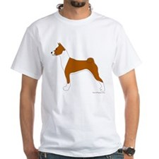 Red and White Basenji Shirt