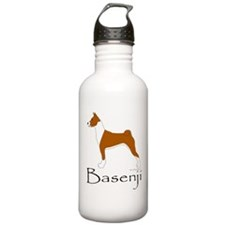Red and White Basenji Water Bottle