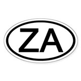 ZA - Initial Oval Oval Decal