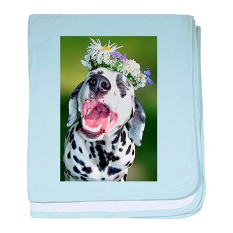 Smiling Dalmatian Dog baby blanket