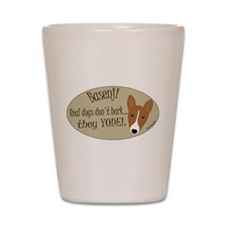 they YODEL! Shot Glass