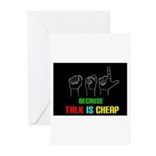 Talk is Cheap Greeting Cards (Pk of 20)