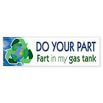 Recycle Gas Bumper Sticker