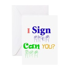 I sign can you? in ASL Greeting Card