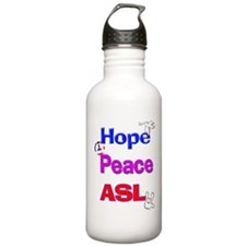 Hope, Peace, ASL Water Bottle