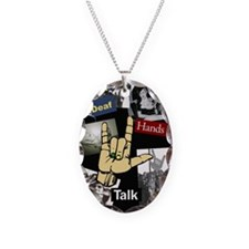 Deaf hands talk Necklace